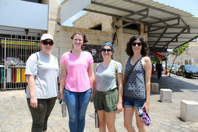 Image of Miami students in the Old City of Akko.