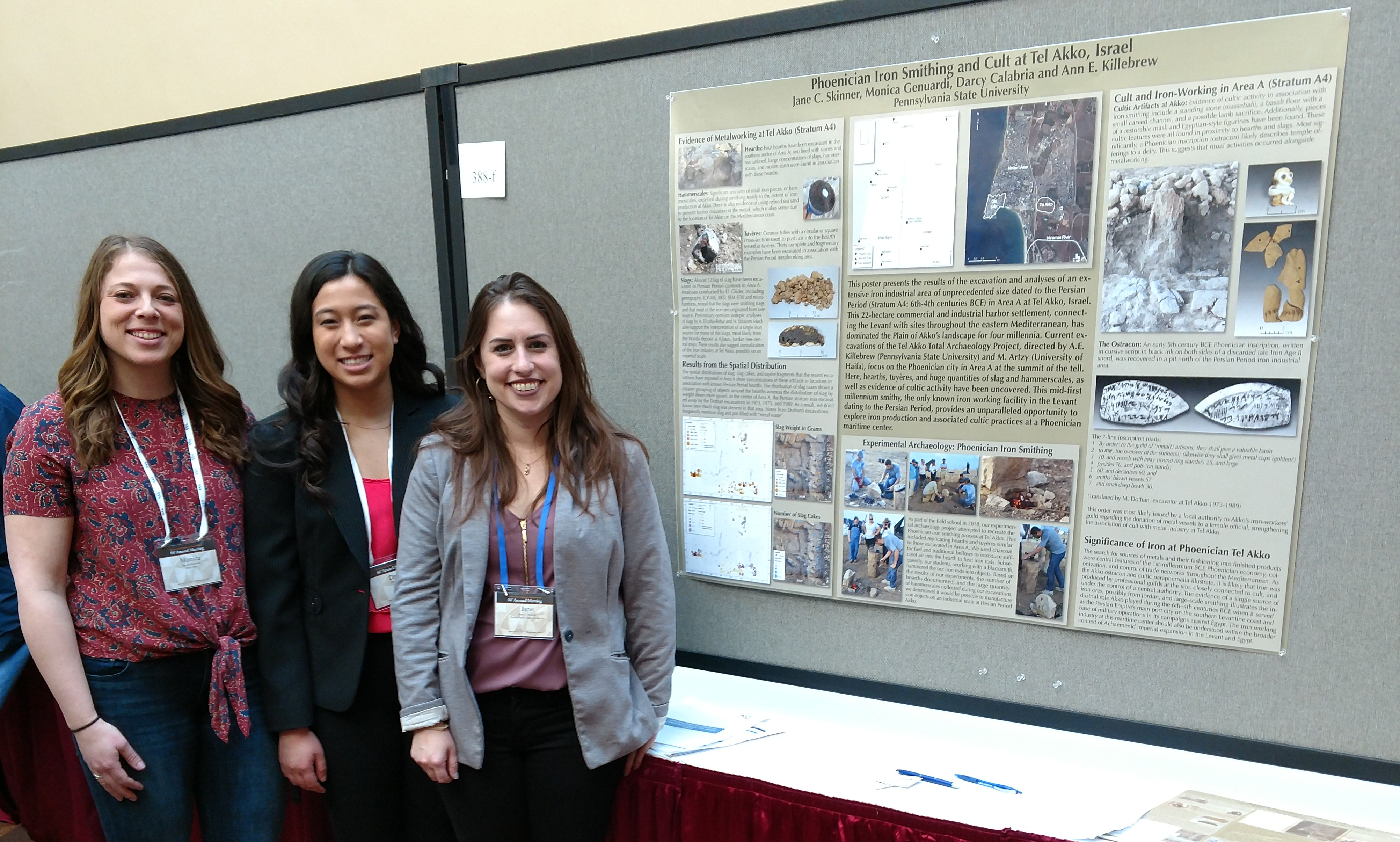 Monica Genuardi, Darcy Calabria, Jane Skinner for TEL AKKO at the American Society for American Archaeology conference